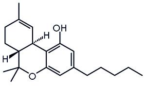 Wzór strukturalny THC