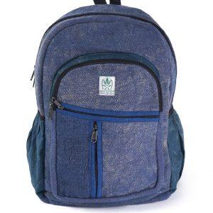 Plecak z konopi niebieski