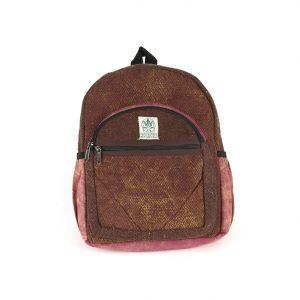 Plecak z konopi bordowy